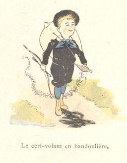 Tintin-Lutin avec son arc et son cerf-volant. Source : http://data.abuledu.org/URI/560c5856-tintin-lutin-avec-son-arc-et-son-cerf-volant