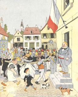 Tintin-Lutin revient de la chasse à l'ours. Source : http://data.abuledu.org/URI/560c5918-tintin-lutin-revient-de-la-chasse-a-l-ours