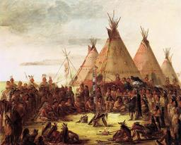 Tipis indiens au XIXème siècle. Source : http://data.abuledu.org/URI/535685b2-tipis-indiens-au-xixeme-siecle
