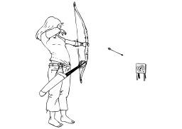 Tir à l'arc. Source : http://data.abuledu.org/URI/5027d0a4-tir-a-l-arc