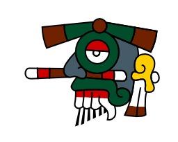 Tlaloc, la pluie du calendrier aztèque. Source : http://data.abuledu.org/URI/540b5f7f-tlaloc-la-pluie-du-calendrier-azteque