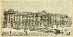 Toulouse et le Capitole en 1877. Source : http://data.abuledu.org/URI/524dd3bb-toulouse-et-le-capitole-en-1877