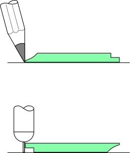 Tracé au crayon et à l'encre. Source : http://data.abuledu.org/URI/52ac755a-trace-au-crayon-et-a-l-encre
