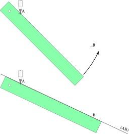 Tracer une droite entre deux points avec une règle. Source : http://data.abuledu.org/URI/52ac6952-tracer-une-droite-entre-deux-points-avec-une-regle