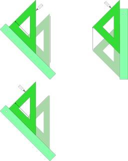 Tracer une parallèle avec une règle et une équerre. Source : http://data.abuledu.org/URI/52ac6b6f-tracer-une-parallele-avec-une-regle-et-une-equerre