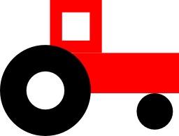 Tracteur rouge. Source : http://data.abuledu.org/URI/5047aa50-tracteur-rouge