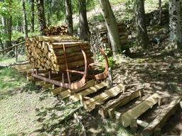 Traîneau de bûcheron dans les Vosges. Source : http://data.abuledu.org/URI/54a518d6-traineau-de-bucheron-dans-les-vosges
