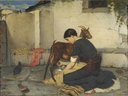 Traite d'une chèvre en Grèce. Source : http://data.abuledu.org/URI/51573d15-traite-d-une-chevre-en-grece