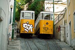 Tramway jaune à Lisbonne. Source : http://data.abuledu.org/URI/546a56b9-tramway-jaune-a-lisbonne