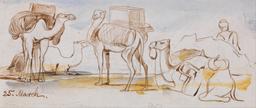 Transport par chameaux en Égypte en 1867. Source : http://data.abuledu.org/URI/54d3bd91-transport-par-chameaux-en-egypte-en-1867