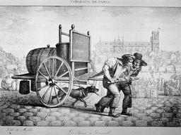 Transporteurs d'eau à Paris. Source : http://data.abuledu.org/URI/587046de-transporteurs-d-eau-a-paris