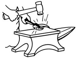 Travail du forgeron sur une enclume. Source : http://data.abuledu.org/URI/53eb9f19-travail-du-forgeron-sur-une-enclume