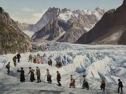 Traversée de la mer de glace. Source : http://data.abuledu.org/URI/517e46aa-traversee-de-la-mer-de-glace