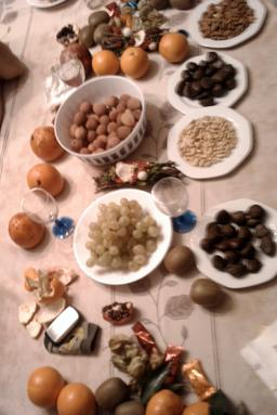 Treize desserts de Noël. Source : http://data.abuledu.org/URI/50430e5f-treize-desserts-de-noel