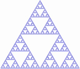 Triangle de Sierpinski avec 7 itérations. Source : http://data.abuledu.org/URI/5183e6e7-triangle-de-sierpinski-avec-7-iterations