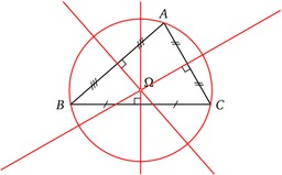 Triangle et cercle circonscrit. Source : http://data.abuledu.org/URI/5180cb40-triangle-et-cercle-circonscrit