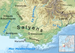 Tribus gauloises en Provence. Source : http://data.abuledu.org/URI/51d4a3bd-tribus-gauloises-en-provence