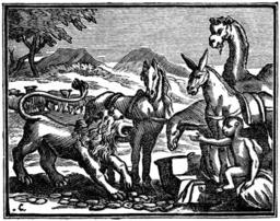Tribut envoyé par les animaux à Alexandre. Source : http://data.abuledu.org/URI/510c5376-tribut-envoye-par-les-animaux-a-alexandre
