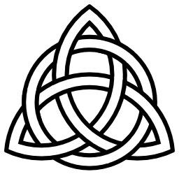 Triskèle entrelacé avec un cercle. Source : http://data.abuledu.org/URI/5357943b-triskele-entrelace-avec-un-cercle