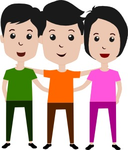 Trois amis. Source : http://data.abuledu.org/URI/54358c4d-trois-amis