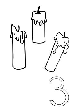 Dessins de cierges - Dessin de bougies ...