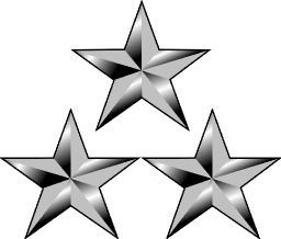Trois étoiles à cinq branches. Source : http://data.abuledu.org/URI/517f7879-trois-etoiles