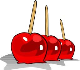 Trois pommes rouges confites. Source : http://data.abuledu.org/URI/50478459-trois-pommes-rouges-confites