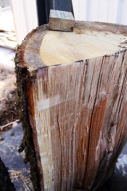 Tronc fendu pour tonneau. Source : http://data.abuledu.org/URI/51dbae89-tronc-fendu-pour-tonneau