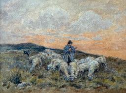 Troupeau à la tombée du jour. Source : http://data.abuledu.org/URI/52a78666-troupeau-a-la-tombee-du-jour