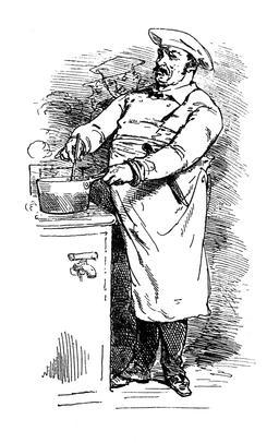 Un cuisinier en uniforme. Source : http://data.abuledu.org/URI/53875a8c-un-cuisinier-en-uniforme