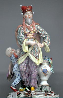 Un mandarin et son serviteur, en porcelaine. Source : http://data.abuledu.org/URI/50eb245b-un-mandarin-et-son-serviteur-en-porcelaine