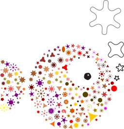 Un poisson en étoiles. Source : http://data.abuledu.org/URI/53431b5c-un-poisson-en-etoiles