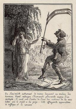 Un sans-culotte à la mort de Louis XVI. Source : http://data.abuledu.org/URI/50fd4111-un-sans-culotte-a-la-mort-de-louis-xvi