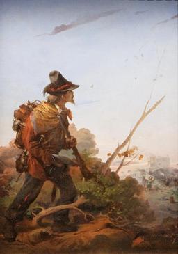Un volontaire des légions de Garibaldi. Source : http://data.abuledu.org/URI/50f1e4cf-un-volontaire-des-legions-de-garibaldi