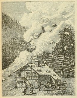 Une avalanche. Source : http://data.abuledu.org/URI/524d8af3-une-avalanche