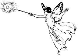 Une fée et sa baguette magique. Source : http://data.abuledu.org/URI/504b9cd6-une-fee-et-sa-baguette-magique
