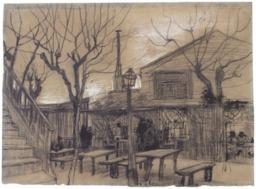 Une guinguette à Montmartre en 1887. Source : http://data.abuledu.org/URI/5515c492-une-guinguette-a-montmartre-en-1887