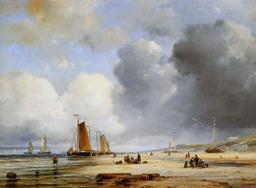 Une plage au XIXème siècle. Source : http://data.abuledu.org/URI/50321b99-une-plage-au-xixeme-siecle