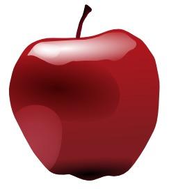 Une pomme. Source : http://data.abuledu.org/URI/47f58246-une-pomme