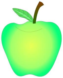 Une pomme verte. Source : http://data.abuledu.org/URI/53ccd8a9-une-pomme-verte