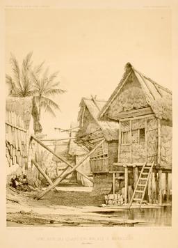 Une rue du quartier malais à Makassar dans les îles Célèbes. Source : http://data.abuledu.org/URI/59817048-une-rue-du-quartier-malais-a-makassar-dans-les-iles-celebes