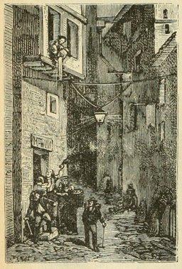 Une rue du Vieux Paris. Source : http://data.abuledu.org/URI/524f0013-une-rue-du-vieux-paris