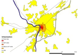 Urbanisation de Montauban. Source : http://data.abuledu.org/URI/51bacc80-urbanisation-de-montauban