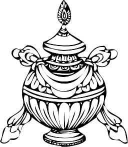 Urne aux trésors tibétaine. Source : http://data.abuledu.org/URI/539a0188-urne-aux-tresors-tibetaine