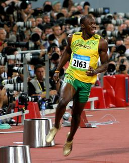 Usain Bolt aux Jeux Olympiques de 2008. Source : http://data.abuledu.org/URI/5392e0a1-usain-bolt-aux-jeux-olympiques-de-2008