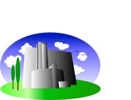 Usine et immeuble. Source : http://data.abuledu.org/URI/5480b500-usine-et-immeuble