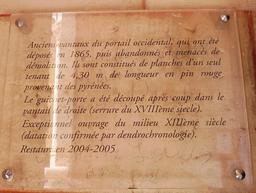 Vantail dans l'église de Saint-Macaire-33. Source : http://data.abuledu.org/URI/599a9d7c-vantail-dans-l-eglise-de-saint-macaire-33
