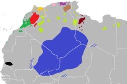 Variantes berbères en Afrique du Nord. Source : http://data.abuledu.org/URI/52bc7d29-variantes-berberes-en-afrique-du-nord