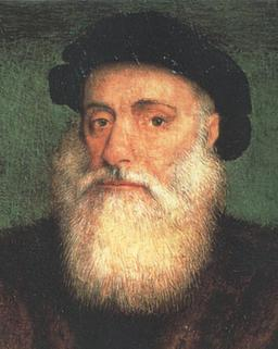 Portrait de Vasco de Gama en 1524. Source : http://data.abuledu.org/URI/537a0275-vasco-de-gama