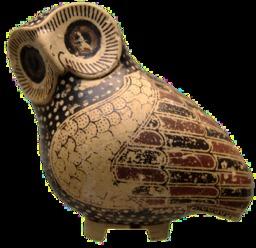 Vase grec antique en forme de chouette. Source : http://data.abuledu.org/URI/53543f7a-vase-grec-antique-en-forme-de-hibou